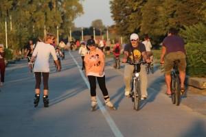 riverside promenade in Osijek - feels like Sweden