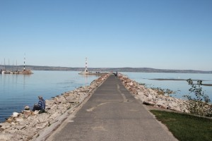 half-empty, off-peak-ish balaton coast in Siófok