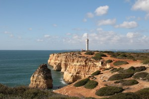 Portimao - the east side cliffs and the lighthouse.
