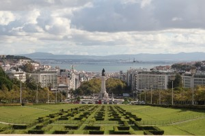 Lisbon - view from the Jardim Amália Rodrigues towards the old town