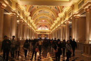 Macau - one of casinos - trying hard to look classy. And failing.