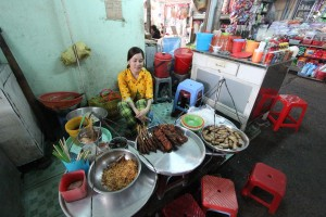 typical sight in Vietnam - 'street food' in Vung Tau