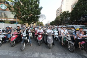 Mopeds and motorbikes in Saigon